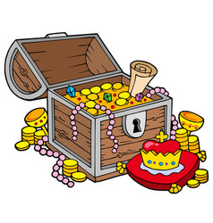 Big treasure chest vector