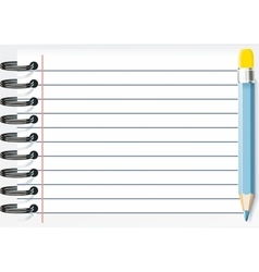 blocknotes with a pencil vector image