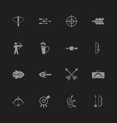Bows and arrows - flat icons vector