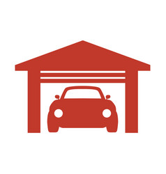 car garage icon on white background vector image