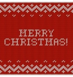 Card of Merry Christmas 2015 with knitted texture vector