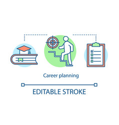 Career planning process concept icon vector