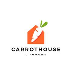 Carrot house home logo icon vector