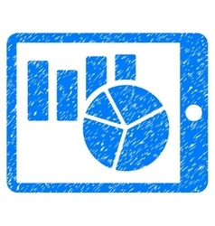 Charts On PDA Grainy Texture Icon vector