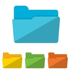 Collection of file folders icons vector image vector image