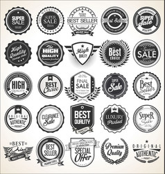 collection retro vintage badges and labels vector image