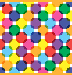 color rounded squares seamless pattern vector image
