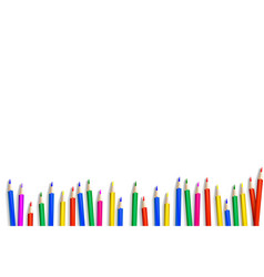 crayons - colored pencil set vector image