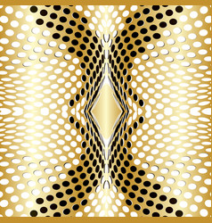 dots background gold vector image
