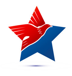 eagle star usa american pride icon vector image