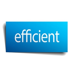Efficient blue paper sign on white background vector