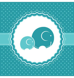 Elephant baby greeting card vector