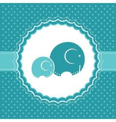 Elephant bagreeting card vector