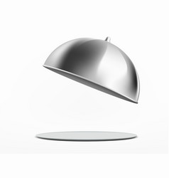 Empty dish or tray with cloche vector