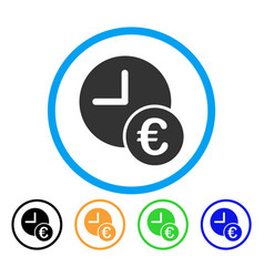 euro recurring payments rounded icon vector image