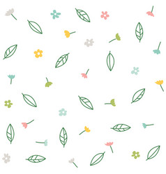 floral collection with flowers and leaves vector image