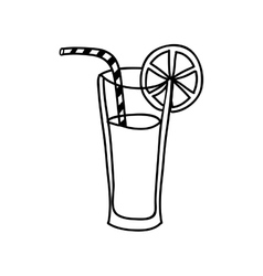 Fruit juice glass icon image vector