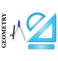 Geometry instrument set vector image