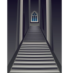 Gothic Stairs Interior vector