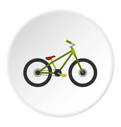 Green bike icon circle vector