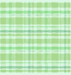 green irish plaid watercolor style seamless vector image