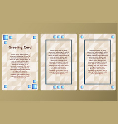 Greeting card with precious stones postcard beige vector