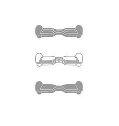 Gyroboard icon grey set vector