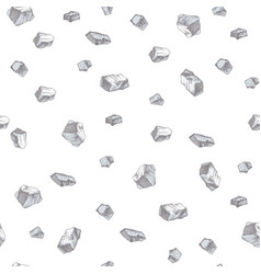hand drawn seamless pattern with salt crystals vector image