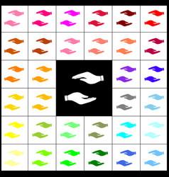 hand sign felt-pen 33 vector image