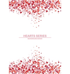 Heart background design II vector