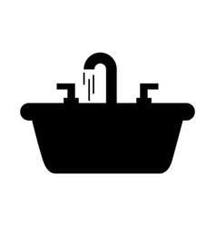 home sink for toilet bathroom ceramic vector image