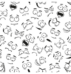 human cartoon emoticon faces pattern vector image