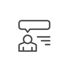 Human opinion line icon vector
