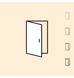 Icon of open door vector