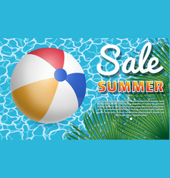 inflatable ball banner3 vector image