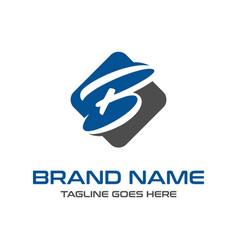 initial logo design b vector image