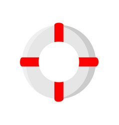 Life saver wheel summer stuff icon design vector
