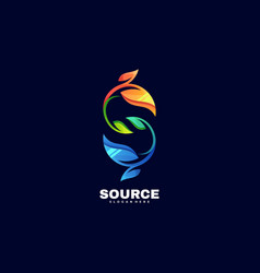 logo source gradient colorful style vector image