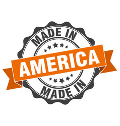 Made in america round seal vector