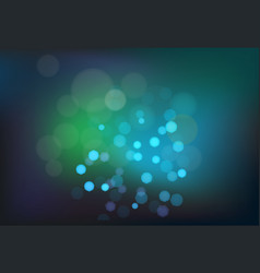 Many bright blue lights on blured background vector