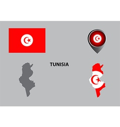 Map of Tunisia and symbol vector image