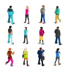 Men And Women Icons Set vector image