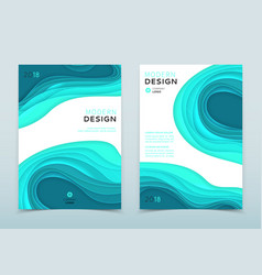 Modern design of business brochure vector