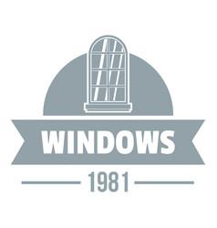 Modern window logo gray monochrome style vector