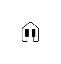 Music studio logo design template vector