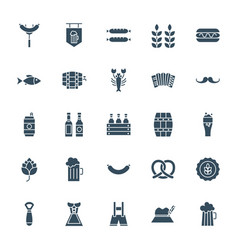 oktoberfest solid web icons vector image