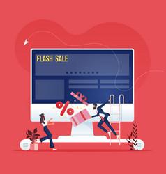 online advertising campaign-social media marketing vector image