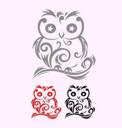 Owl decor vector image