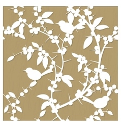 pattern for laser cut with blackthorn vector image vector image