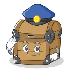 Police chest character cartoon style vector